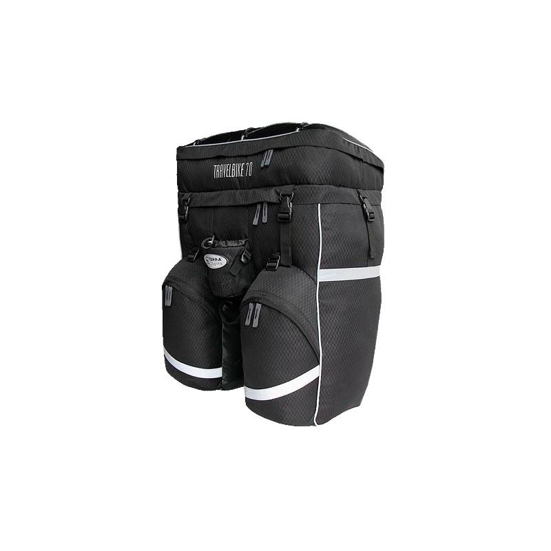 Рюкзак для велотуризма Terra Incognita Travelbike 70 (чёрный)